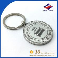 Metal round key chain car logo can custom logo keychain