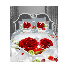 3D Wedding Red Rose Duvet Cover Bedding Sets Hot Selling Products in 2015