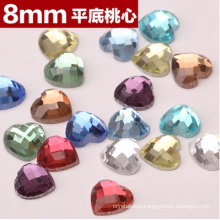 Colorful Heart Flat Back Stones Beads for Jewelry