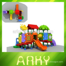2015 hot selling kids plastic slide outdoor playground park garden play structure