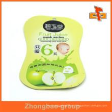 Proveedor de Guangzhou al por mayor de material laminado bolsa de forma personalizada para los cosméticos