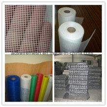 Tela de janela de inseto de fibra de vidro de 18 * 16 malhas 16 * 16 malhas de plástico