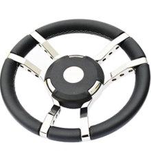 Genuine Marine Yacht speedboat steering wheel UV resistant leather electroplating stainless steel luxury boat accessories