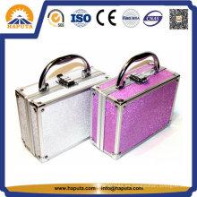 Caja de almacenamiento de cosméticos de belleza con forro de terciopelo (HB-2035)