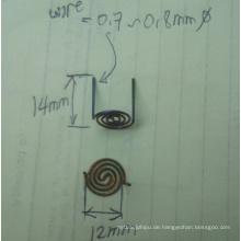 2014 beliebte benutzerdefinierte Wolfram Spiraldraht Dia0.7mm
