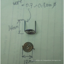 Alambre espiral modificado para requisitos particulares popular del tungsteno 2014 Dia0.7mm