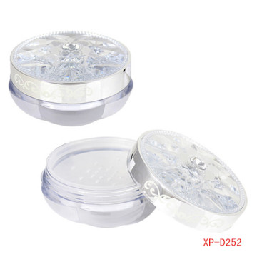 Delicate Diamond Compact Powder Container