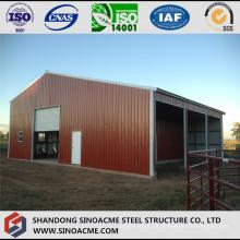 Almacén prefabricado de la estructura ligera de acero movible