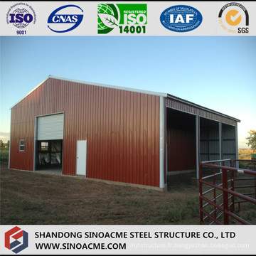 Entrepôt préfabriqué de structure métallique légère mobile