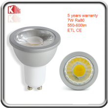 ETL High Lumen 7W Dimmable GU10 LED Spotlight