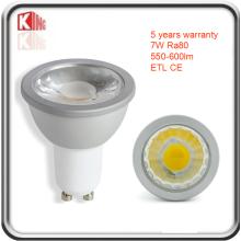 ЭТЛ высокий Люмен 7W Затемняемый GU10 светодиодный Прожектор