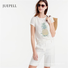 Camiseta de algodão casual verão