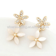 Projetos de cristal da flor para meninas brincos brincos pequenos brincos de ouro