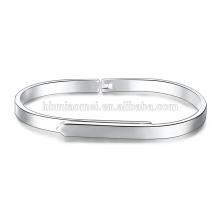 Vente chaude naturel Aquamarine perles de rocaille bracelet en argent plaqué pour les femmes