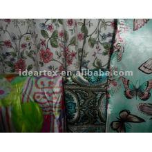 Polyester imprimé tissu Satin pour la robe de la Dame