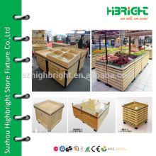 Витрина для овощей в супермаркете, корзина для овощных столов