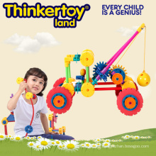 Plastic Interlocking Toy for Kids, Plastic Crane