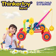 Plástico brinquedo intertravamento para crianças, guindaste plástico