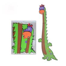 Adesivos de bonito dos desenhos animados para crianças Cartoon altura governante ecológico eva puzzle altura de parede autocolantes criança quarto decoração