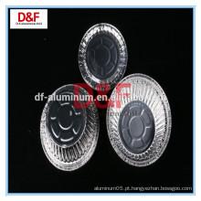 Uso de alimentos e material de alumínio recipiente de papel alumínio
