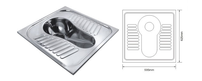 Stainless steel squatting pan 11