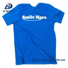 Personalizado barato de alta qualidade dos homens 100% algodão promocional camiseta