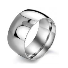 Anel grande de alta qualidade, anel de aço inoxidável, anel de prata