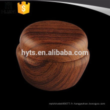 20ml grain de bois en plastique crème cosmétique pot vide
