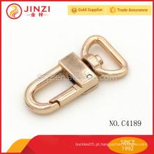 Solid giro de bronze giratória olho Snap ganchos para bolsa