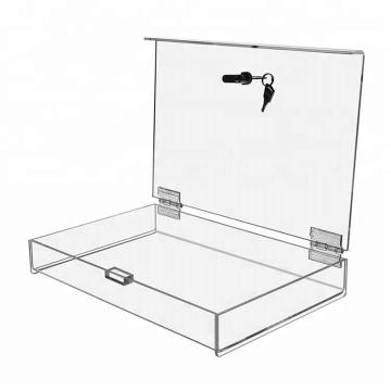 Boîte d'affichage acrylique avec serrure