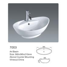 Salle de bains Salle de bain ovale Salle de lavage en céramique (7003)