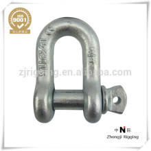 sujetadores de metal tipo estadounidense perno y tuerca de acero forjado grillete de seguridad