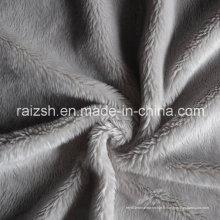 Tissu de peluche court et super doux à deux faces pour textile à la maison