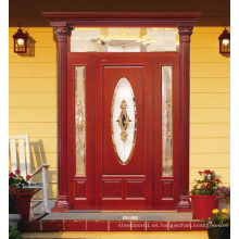 Entrada Puerta de pintura de madera maciza