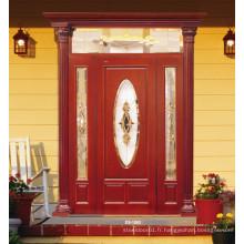 Porte de peinture en bois massif d'entrée