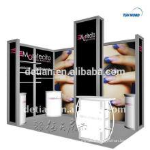 étalage d'exposition en aluminium avec un beau design de Chine