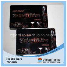 Carte-cadeau PVC avec barode / cartes-cadeaux en plastique / carte d'adhésion en plastique
