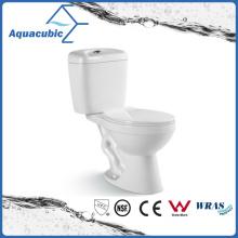 Two Piece Dual Flush Ceramic Toilet in White (ACT7302)