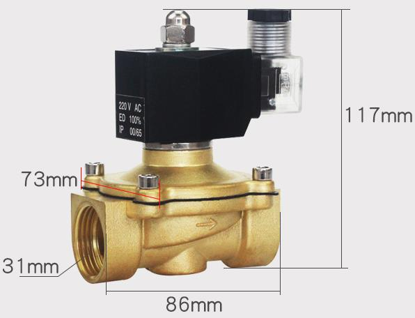 Overall dimension of G1'' Ckd Type ADK11-25G Diaphragm Valves