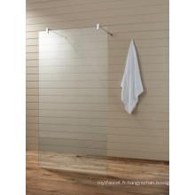Clear Glass Bathroom Bathtub Écran de douche (T2)