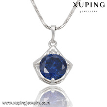32702 Fashion Elegant Crystal Jewelry Chain Pendant in Rhodium Color