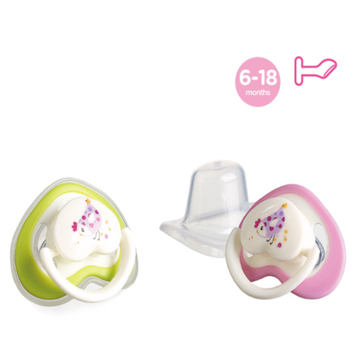 A0156 Flat Heart Shape Baby Silicon Pacifier