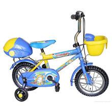 Детские горные велосипеды желтого и синего цвета