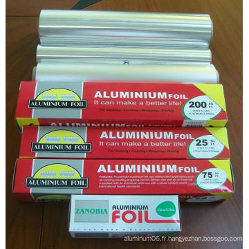 Rouleau de papier d'aluminium et aluminium pour l'alimentation