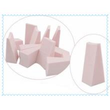 Bouffée de puissance de latex naturel d'éponge de maquillage cosmétique blanche de cale de haute qualité