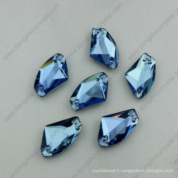 Sapphire Flat Back Coudre Sur Perles Strass Stones