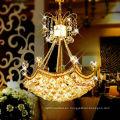 Decoración para el hogar Fuente de luz de ahorro de energía y Color oro Lámpara de techo de cristal k9 moderno