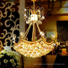 Home Decor Energy Saving Light Source and Gold Color Modern Ceiling k9 crystal chandelier