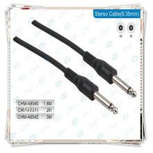 Cable de 6,35 mm con cable de audio estéreo de 1/4