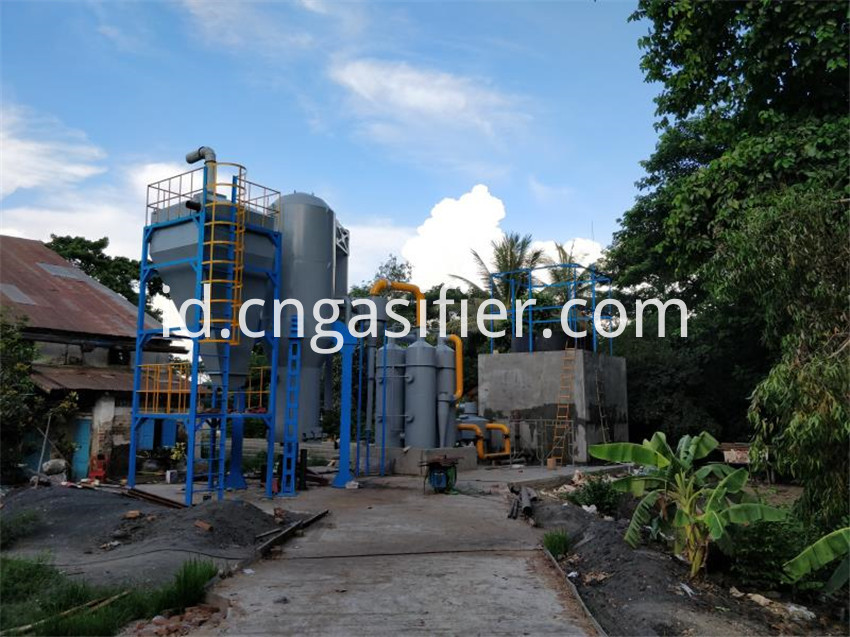 Biomass gasifier power